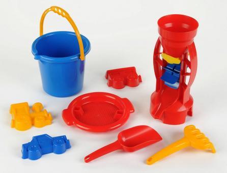 Sand bucket set, 8pcs.