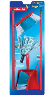 Vileda cloth mop with brush and pan set