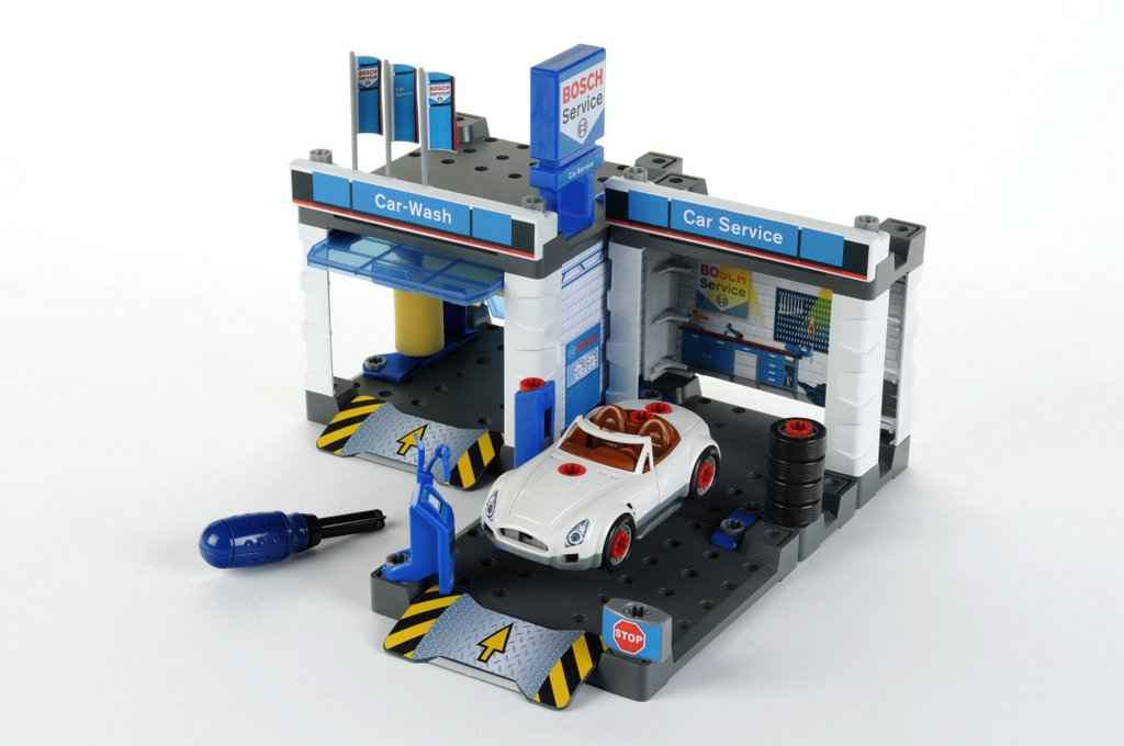 klein toys shop bosch autowerkstatt mit waschstra e. Black Bedroom Furniture Sets. Home Design Ideas