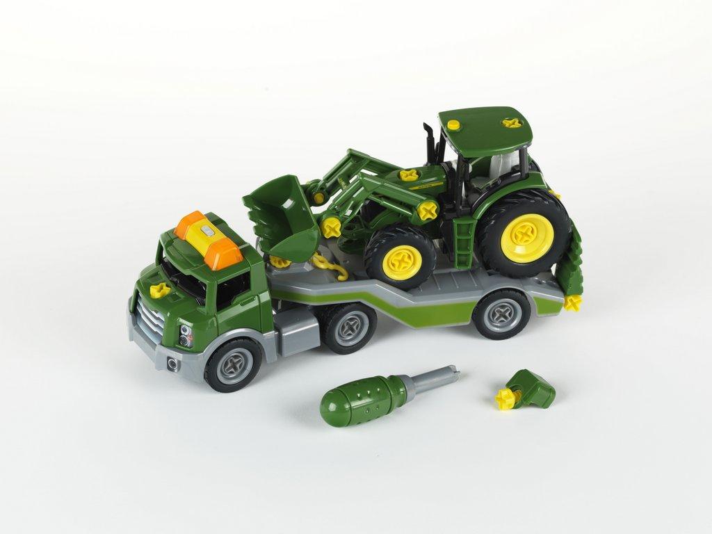 klein toys shop transporter mit john deere traktor. Black Bedroom Furniture Sets. Home Design Ideas